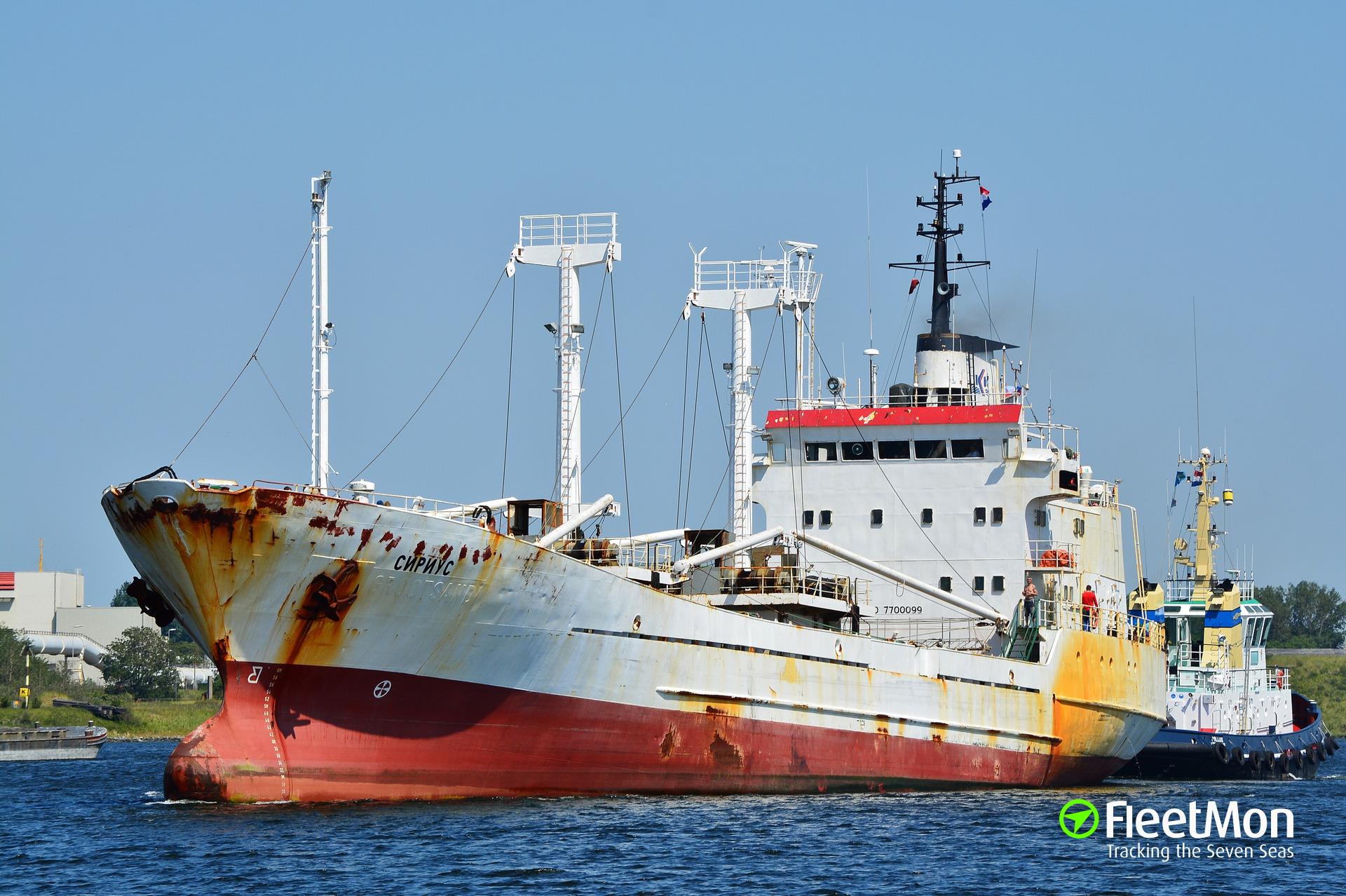 Reefer SIRIUS aground, S-Petersburg