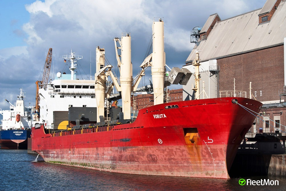 Lithuanian freighter Voruta under arrest since early May, Portugal