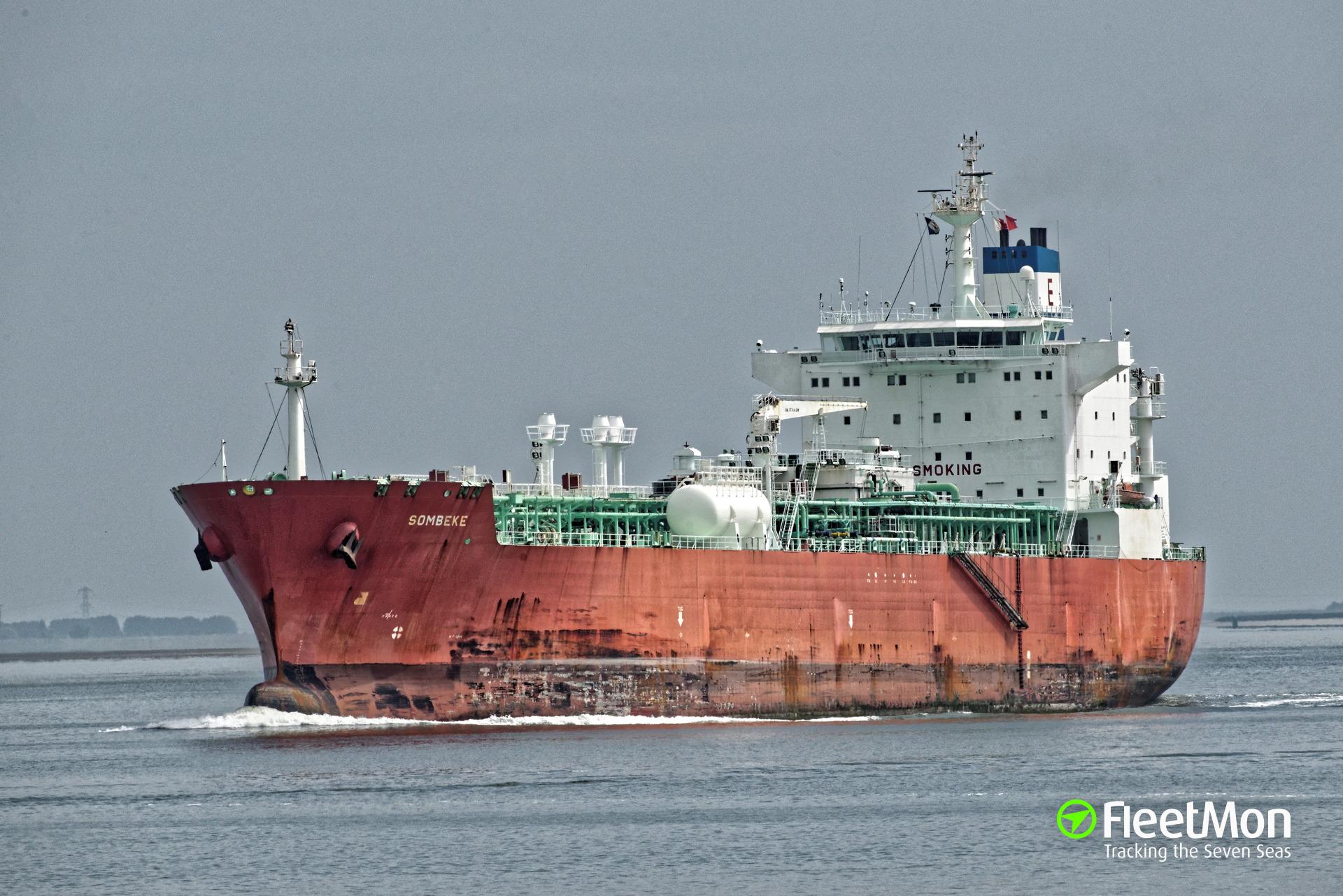 Anhydrous ammonia leak from LPG tanker Sombeke, Houston