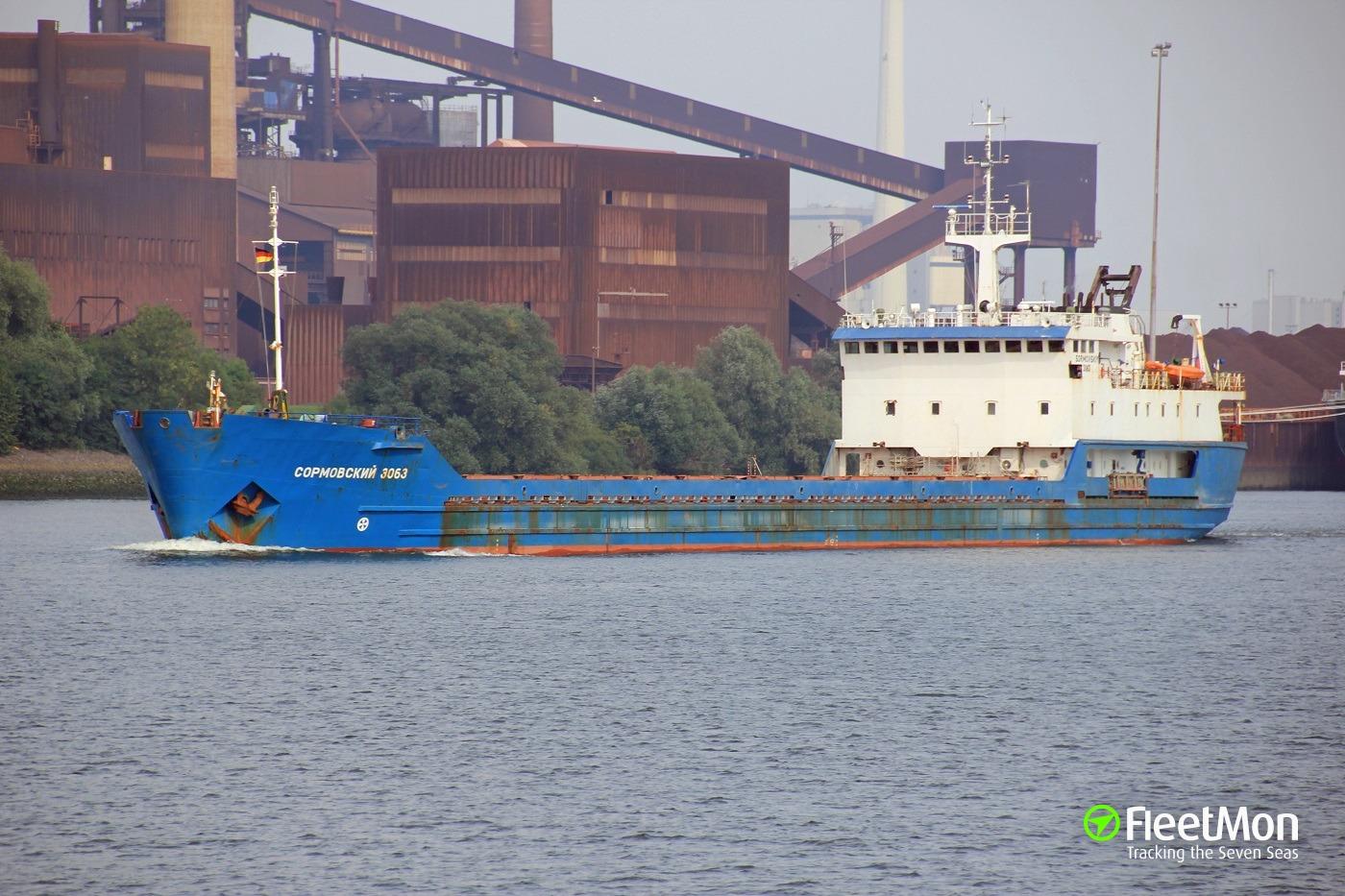 SORMOVSKIY-3063 aground, Azov sea