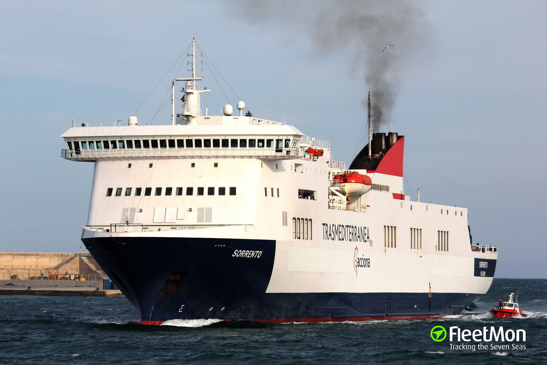 Fire on board of Italian ferry Sorrento, Greece
