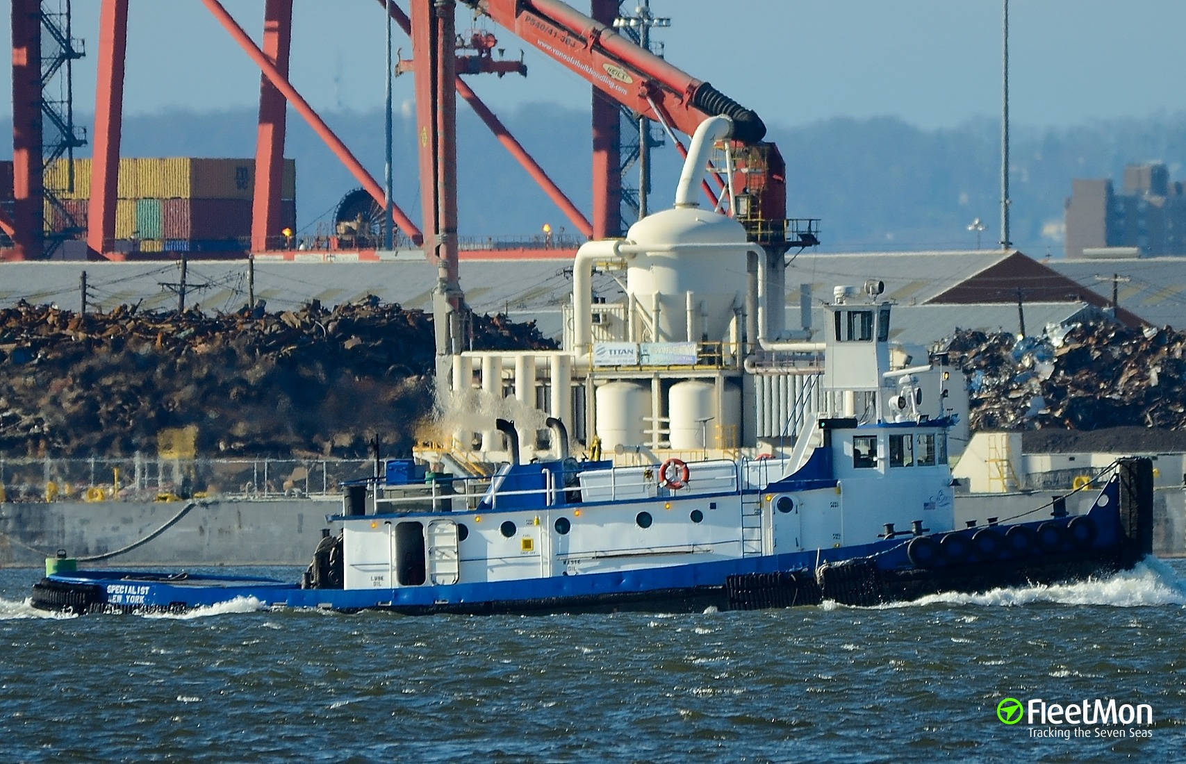 Tug SPECIALIST sank after collision, 1 dead 2 missing, USA
