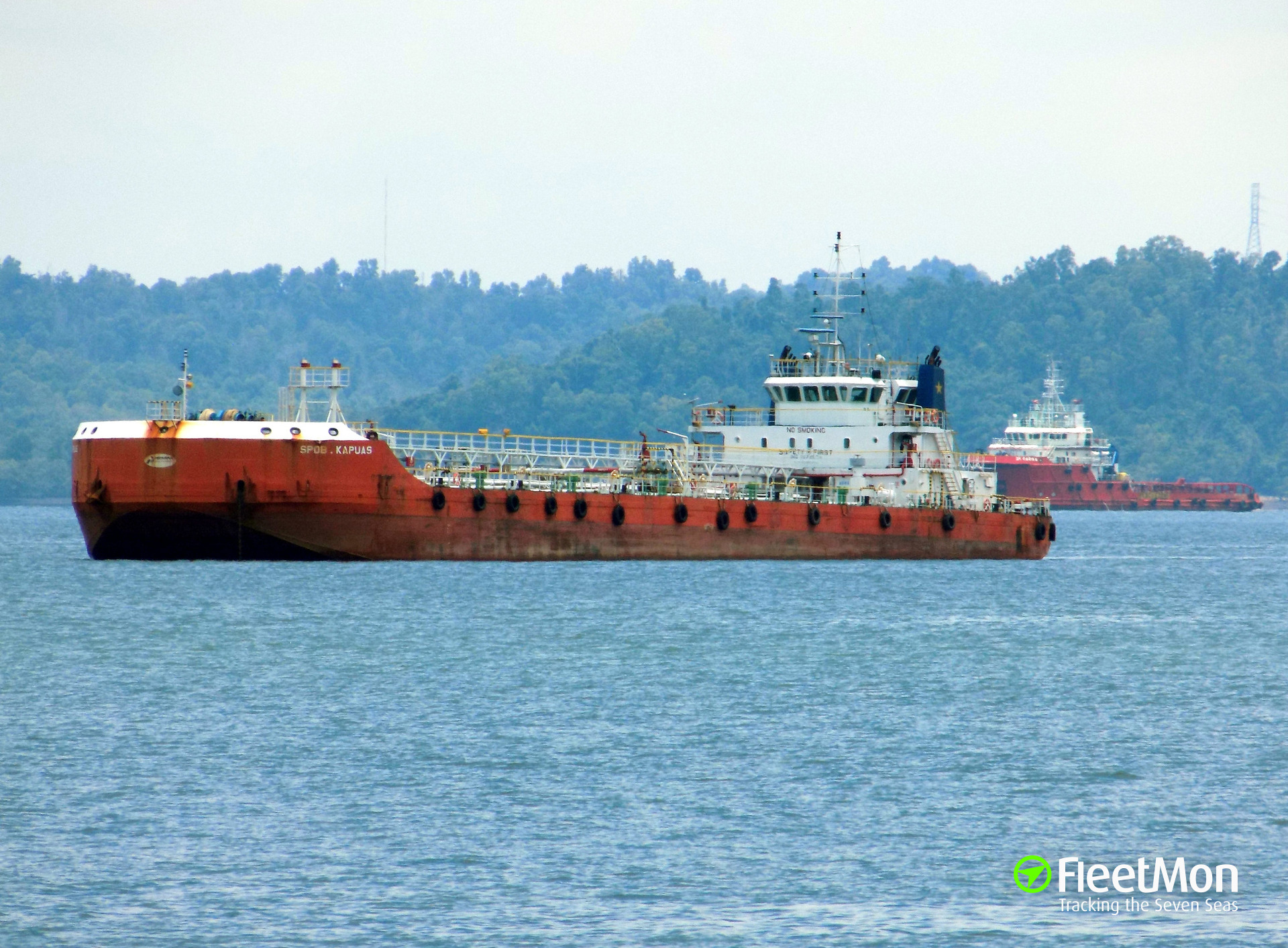 Tanker SPOB KAPUAS fire and explosion