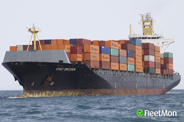 Container ship fire, Venice, Italy