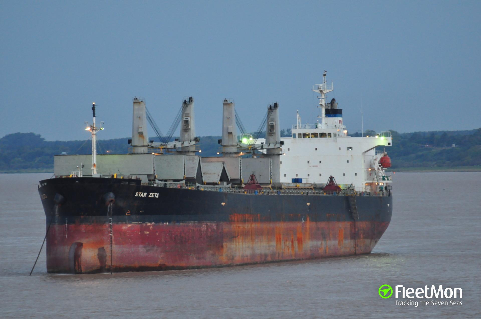 Bulk carrier STAR ZETA refloated: UPDATE