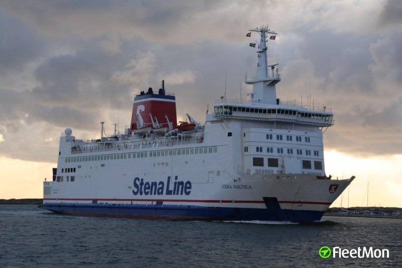 Ferry Stena Nautica holed in allision, Grenaa, Denmark