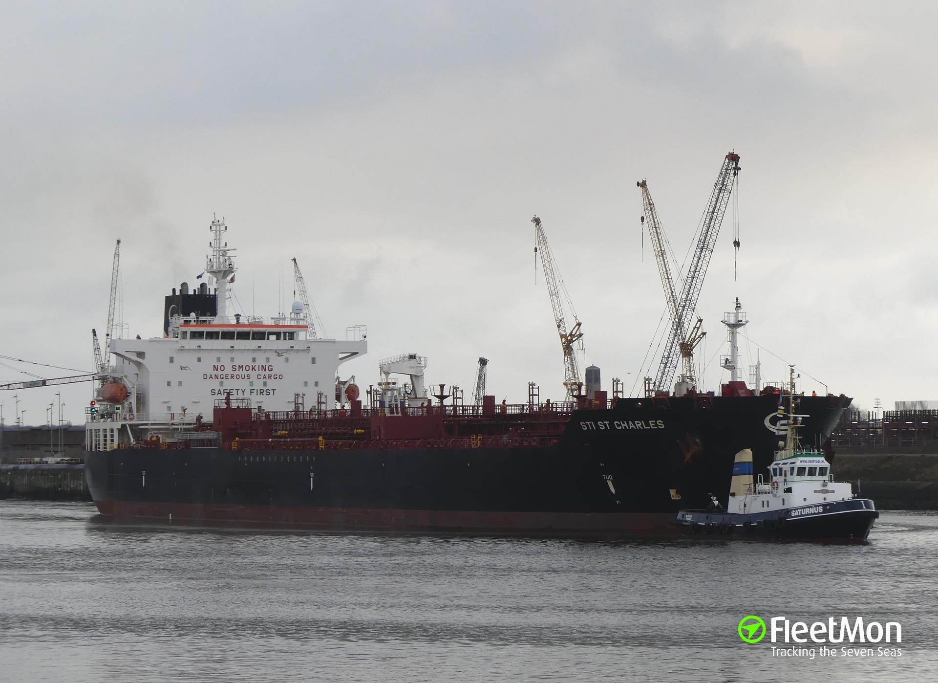 Product tanker STI ST CHARLES grounding