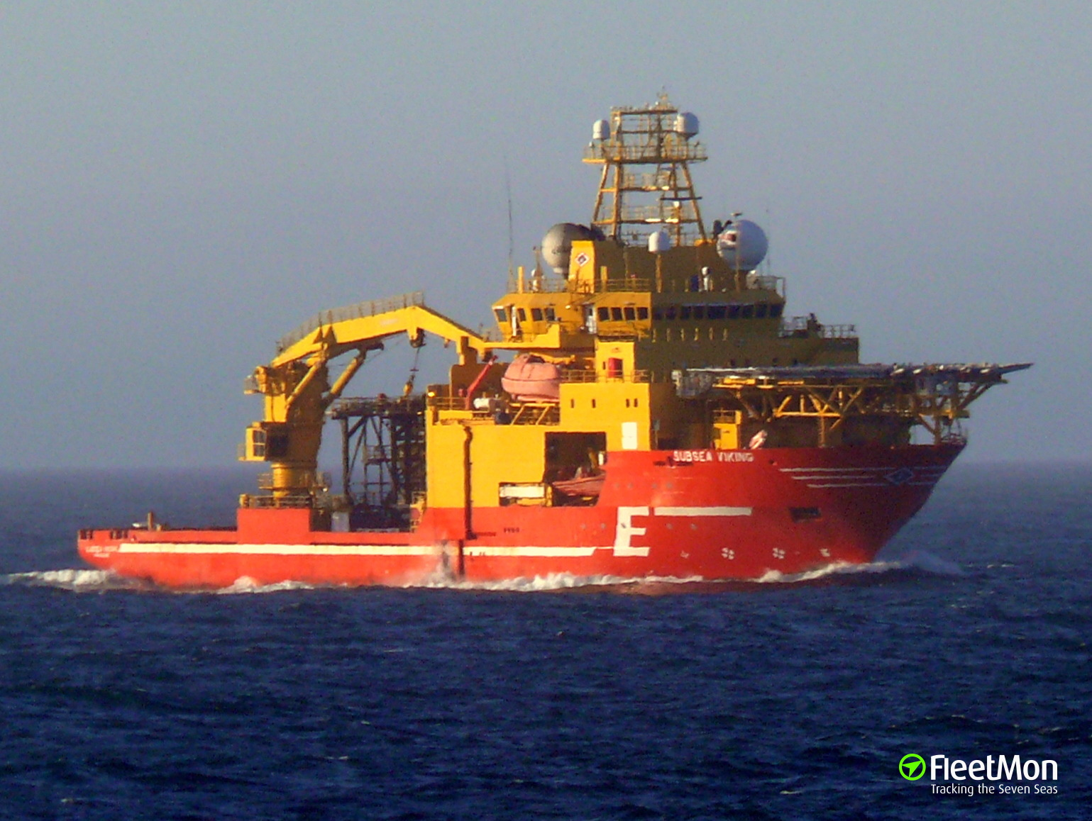 Fire on board of offshore support vessel Subsea Viking, Orkneys