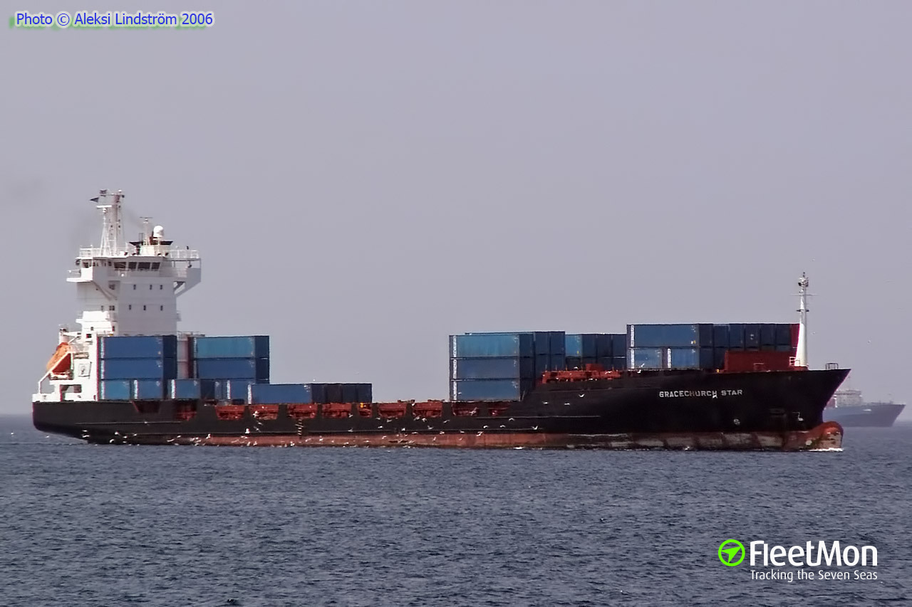 German boxship Conmar Cape aground off Subic Bay