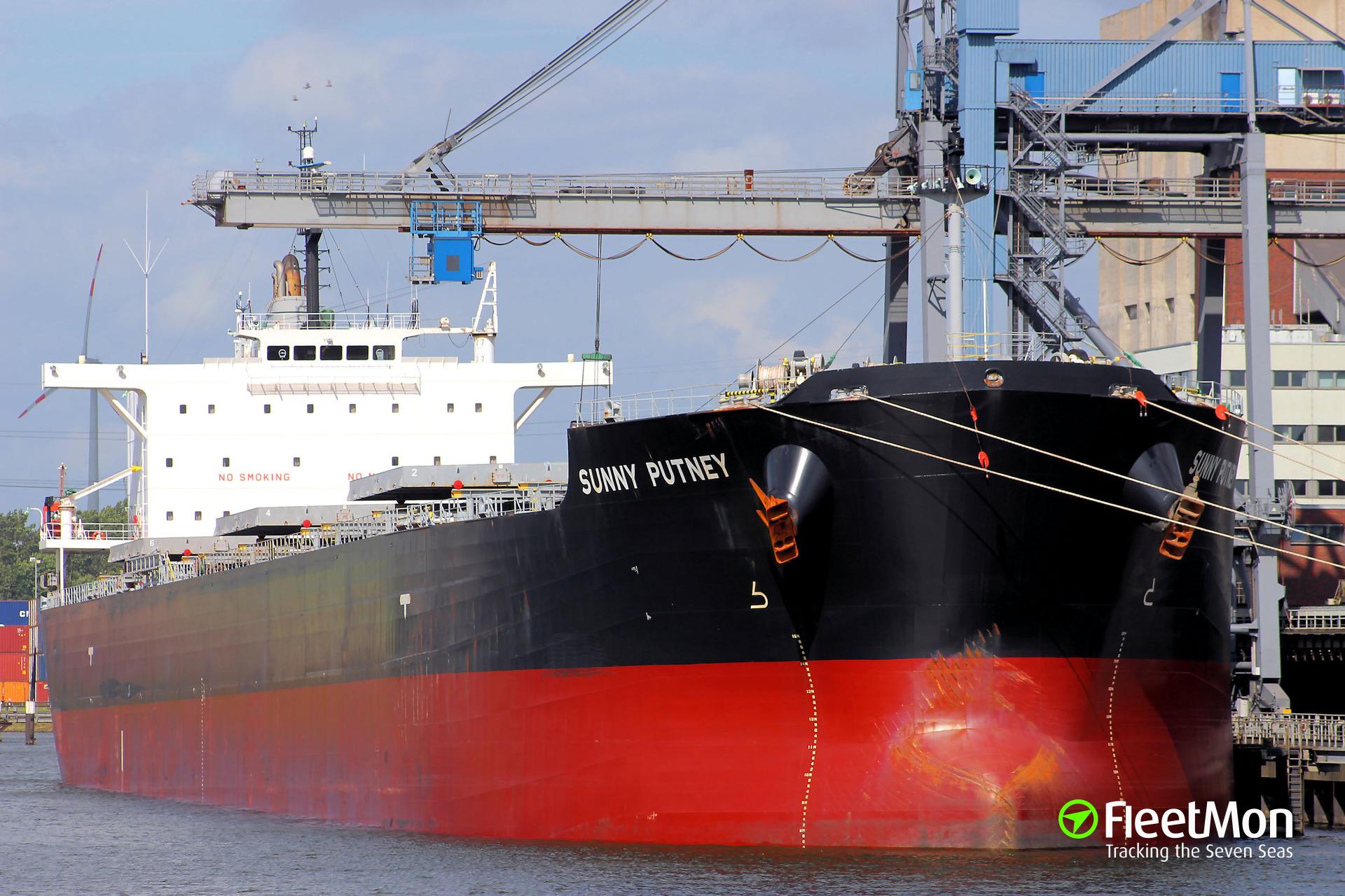 SUNNY PUTNEY cargo of coal fire, Brindisi