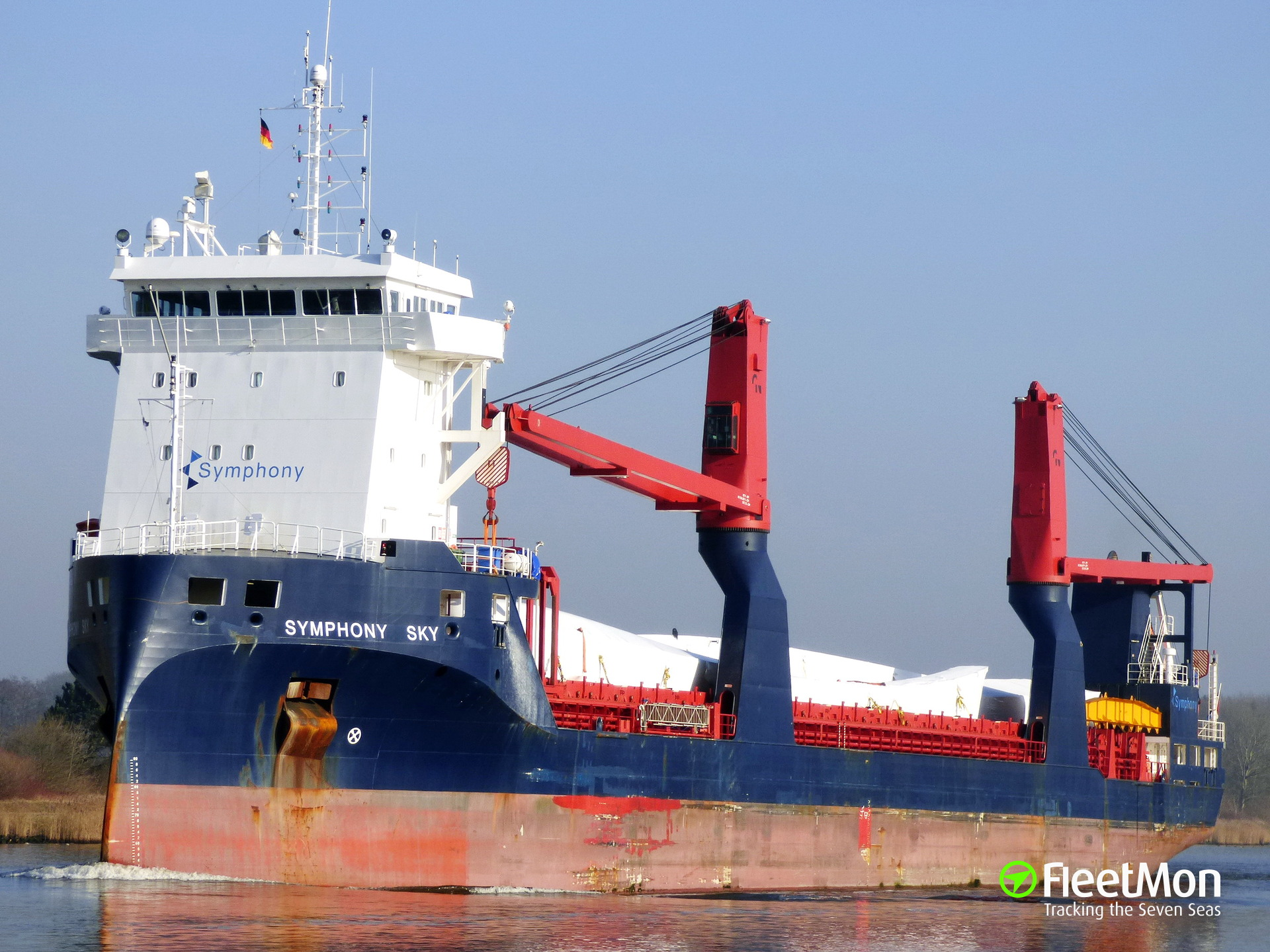 General cargo vessel SYMPHONY SKY grounding