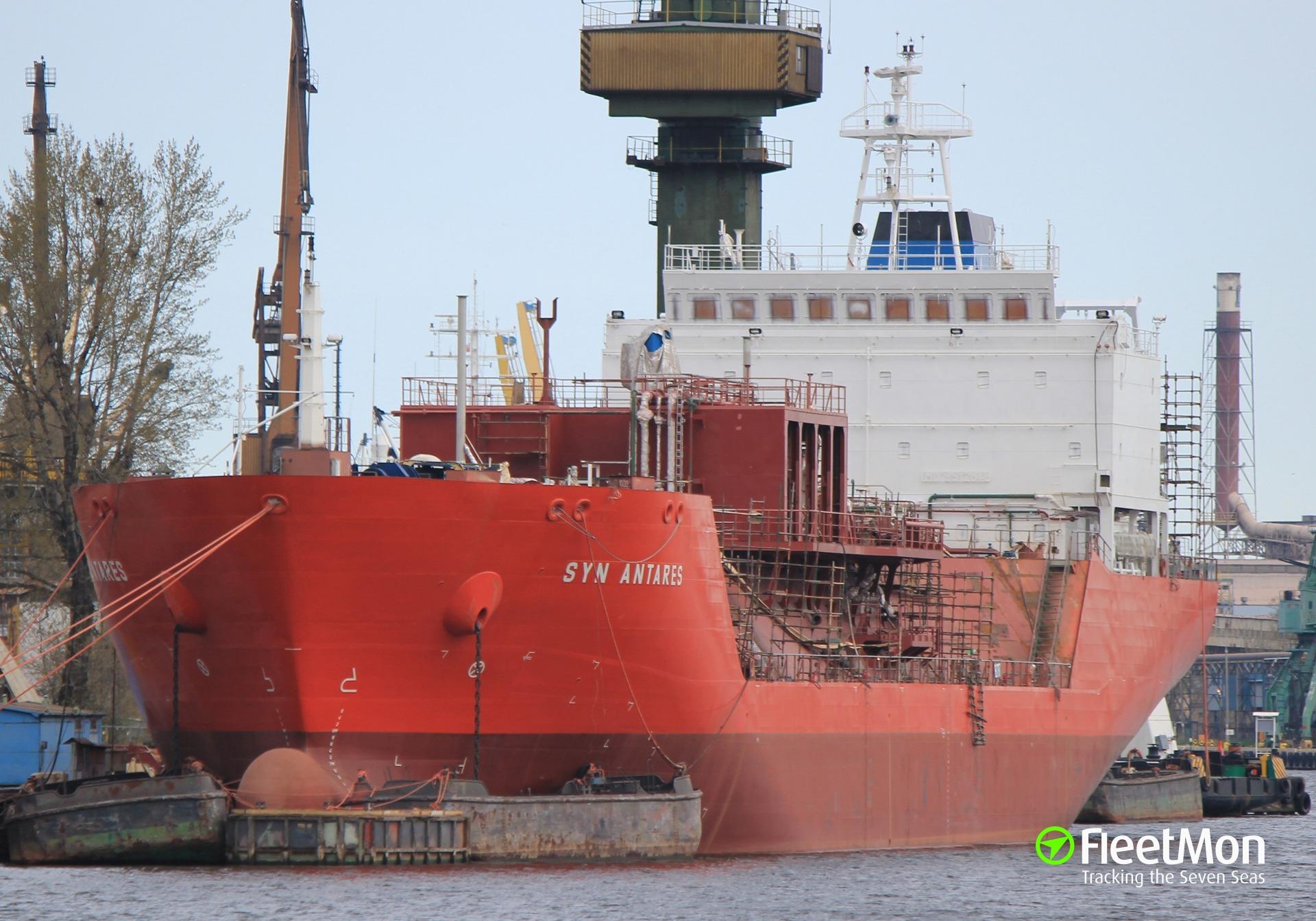 LPG tanker SYN ANTARES aground