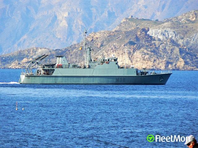 Vessel TAJO M36 (Minelayer) IMO —, MMSI 225352000