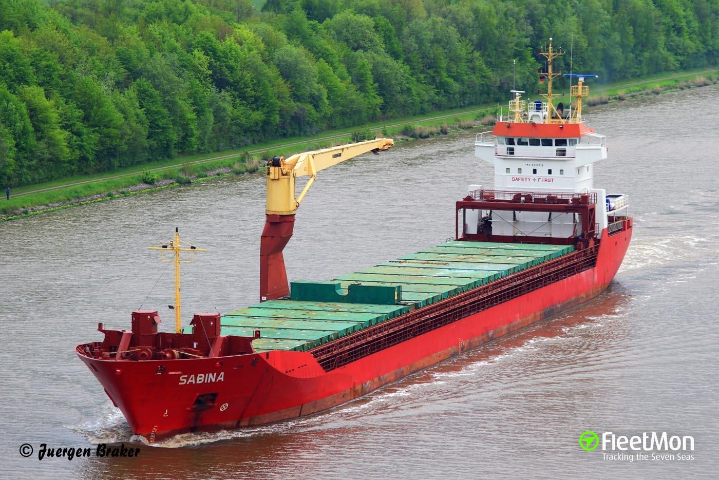 Sabina nearly ran aground on Bornholm coast