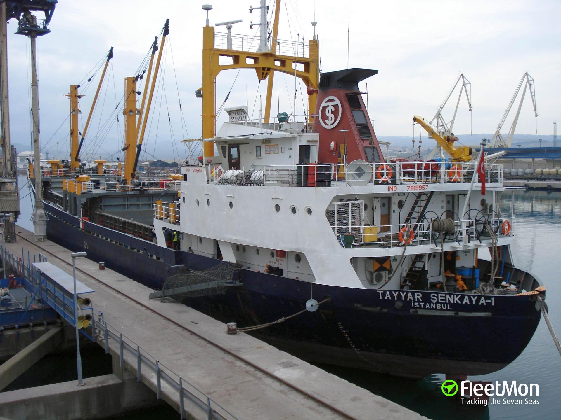 Turkish freighter Tayyar Senkaya 1 sank in Mediterranean sea