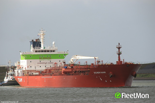 Tanker damaged in collision with fishing vessel, returned to Falmouth