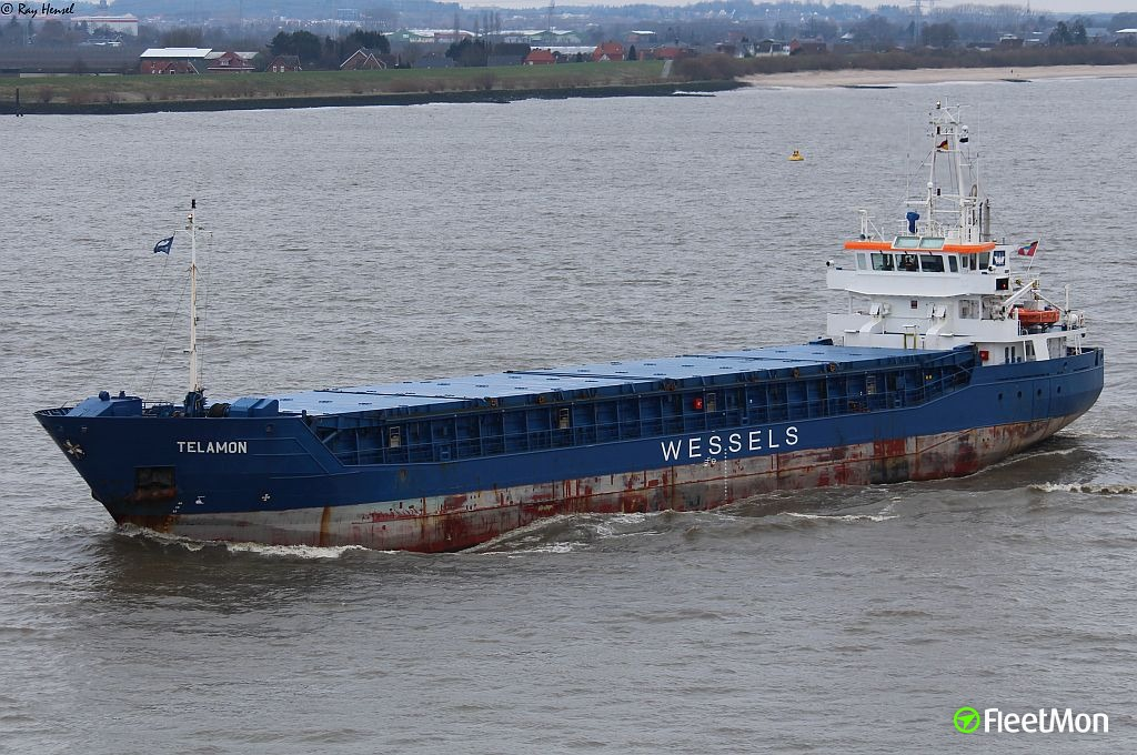 Freighter Telamon collided with ferry Nordenham and then contacted dredger Taccola, Bremerhaven
