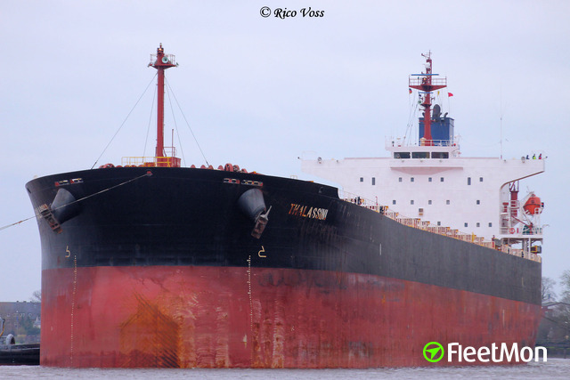 Panamax bulk carrier fire, Bristol, UK