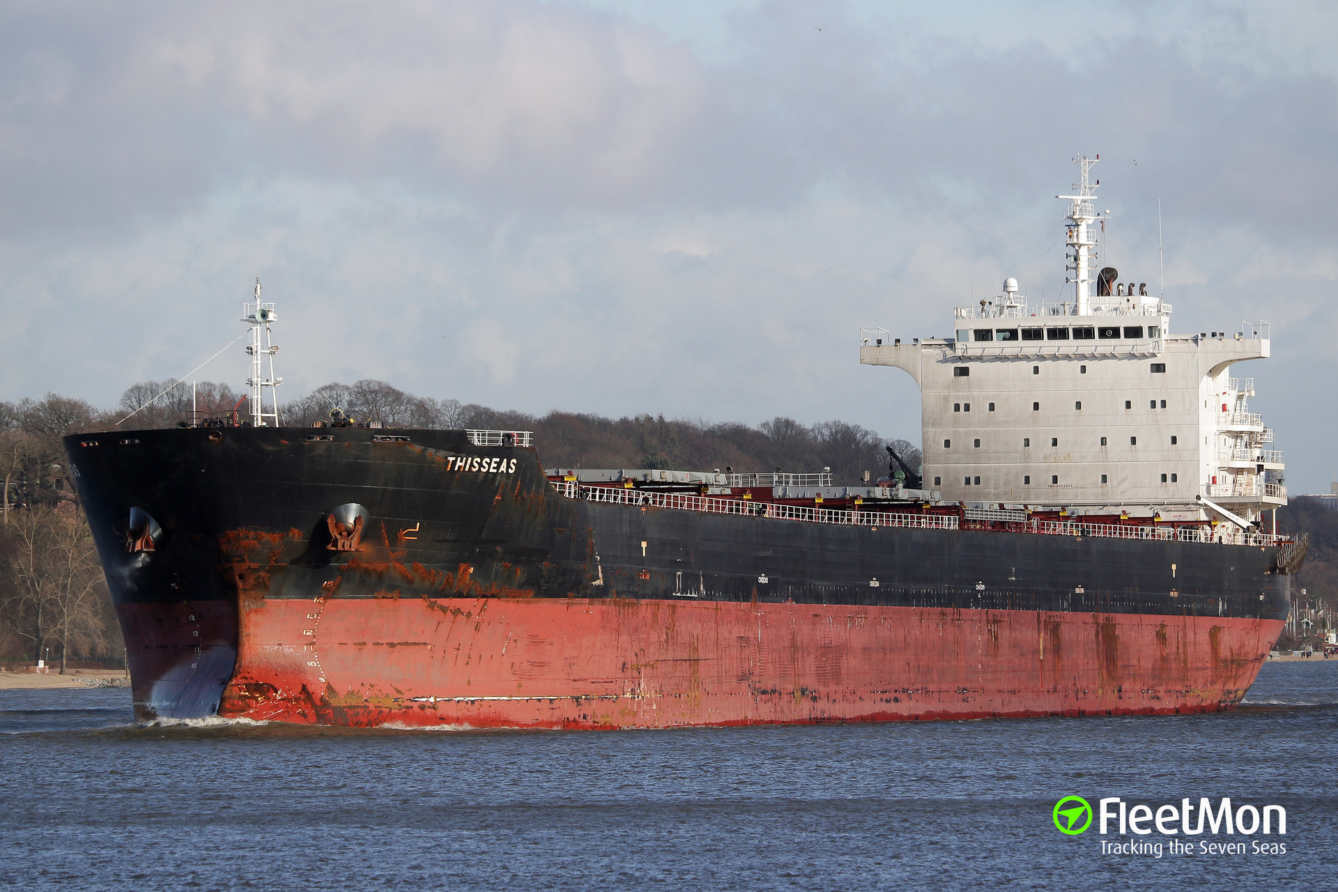 Container ship Plata Feeder collided with bulk carrier Thisseas, Parana River