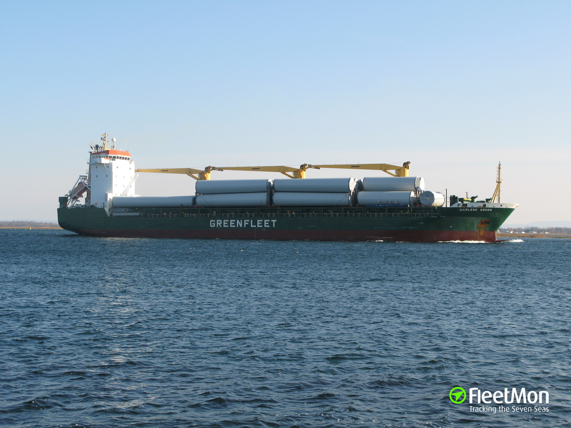 THORCO MARJANNE allided with pier at Ogdensburg, St. Lawrence river
