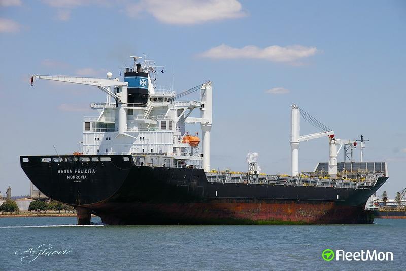 Austrian Master of German boxship Santa Felicita disappeared in Indian ocean