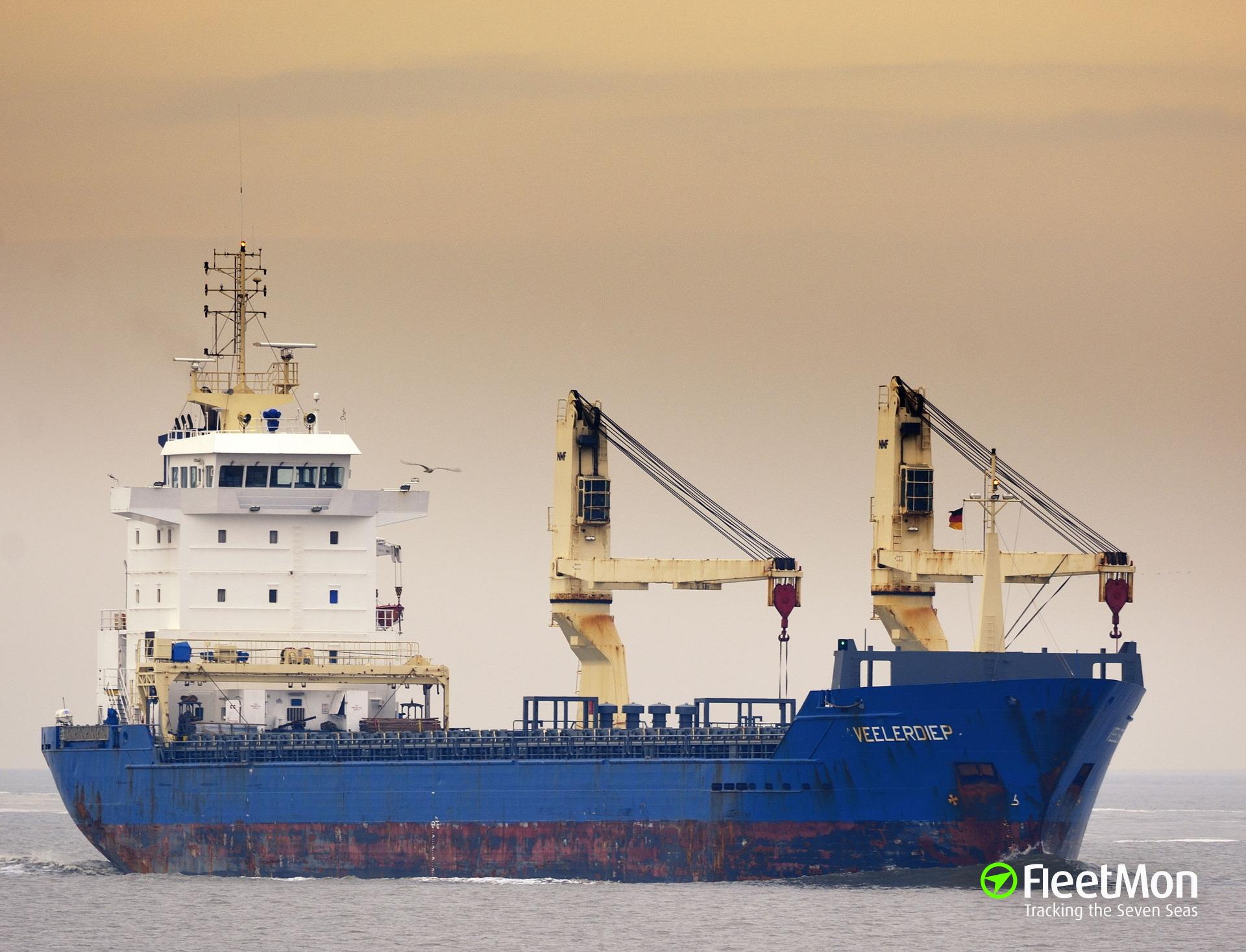 Freighter adrift in Gulf of Cadiz