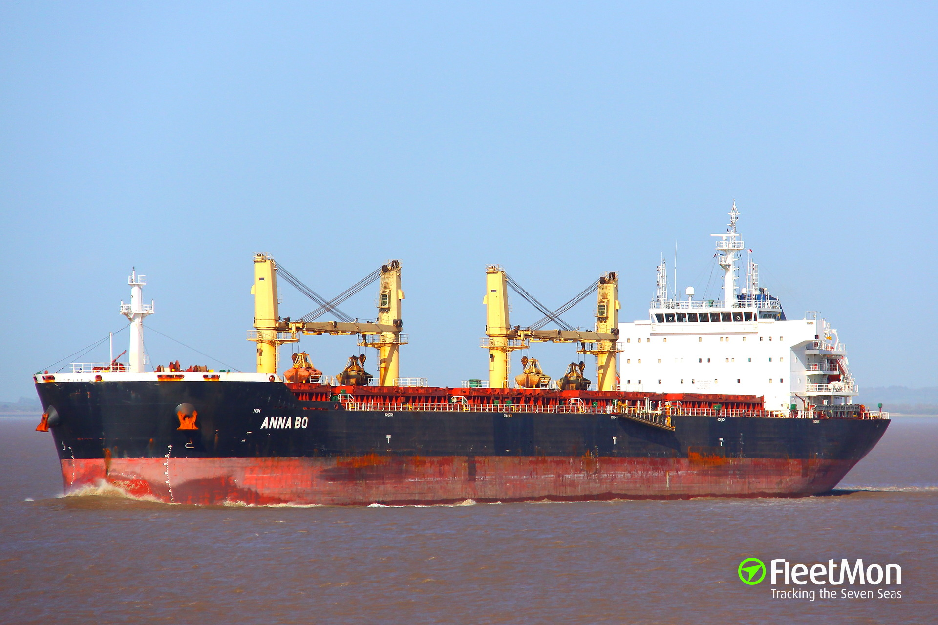 Bulk carriers Anna Bo and Gora allision