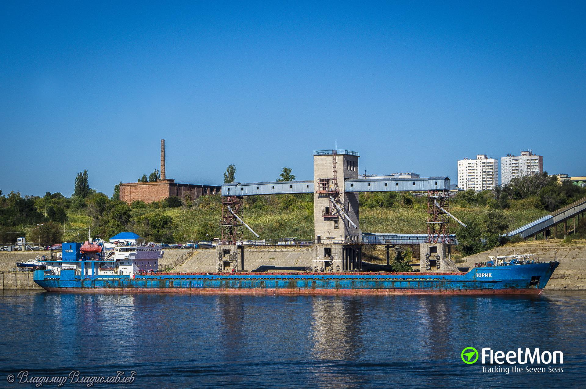 Freighter Tarik ran aground in Volga – Caspian Sea Canal