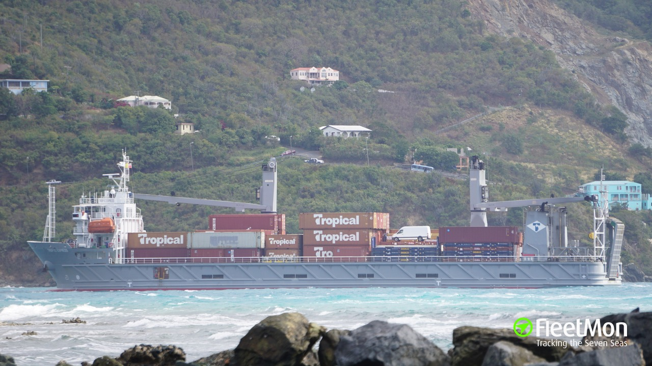 Vessel TROPIC EXPRESS (Container ship) IMO 9510046, MMSI