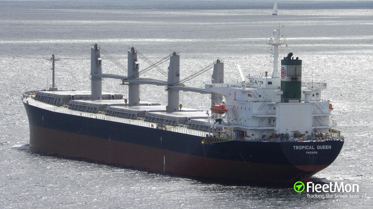 Vessel TROPICAL QUEEN (Bulk carrier) IMO 9298521, MMSI 371421000