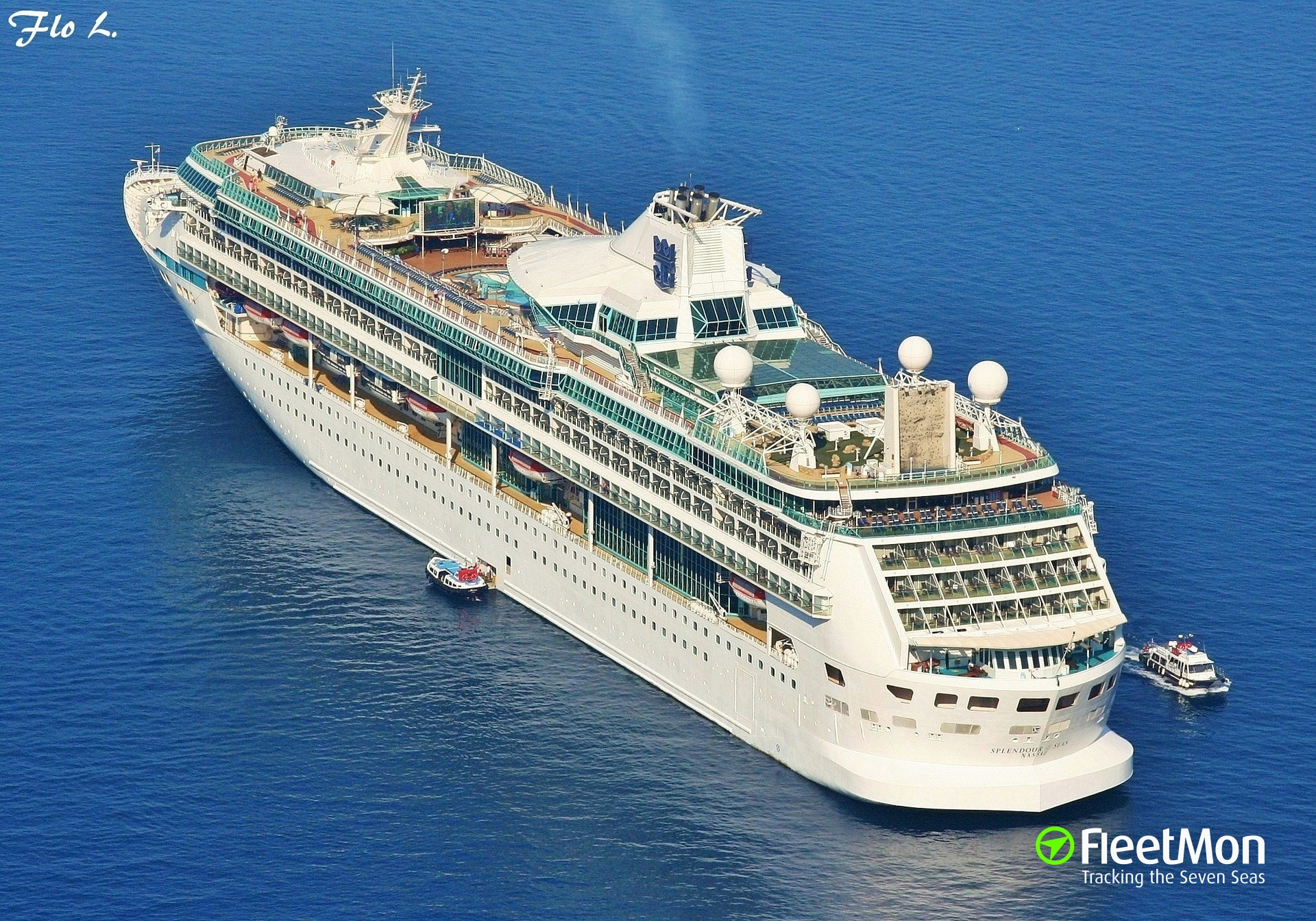 Fire in engine room of cruise liner Splendour of the Seas, Ionian sea