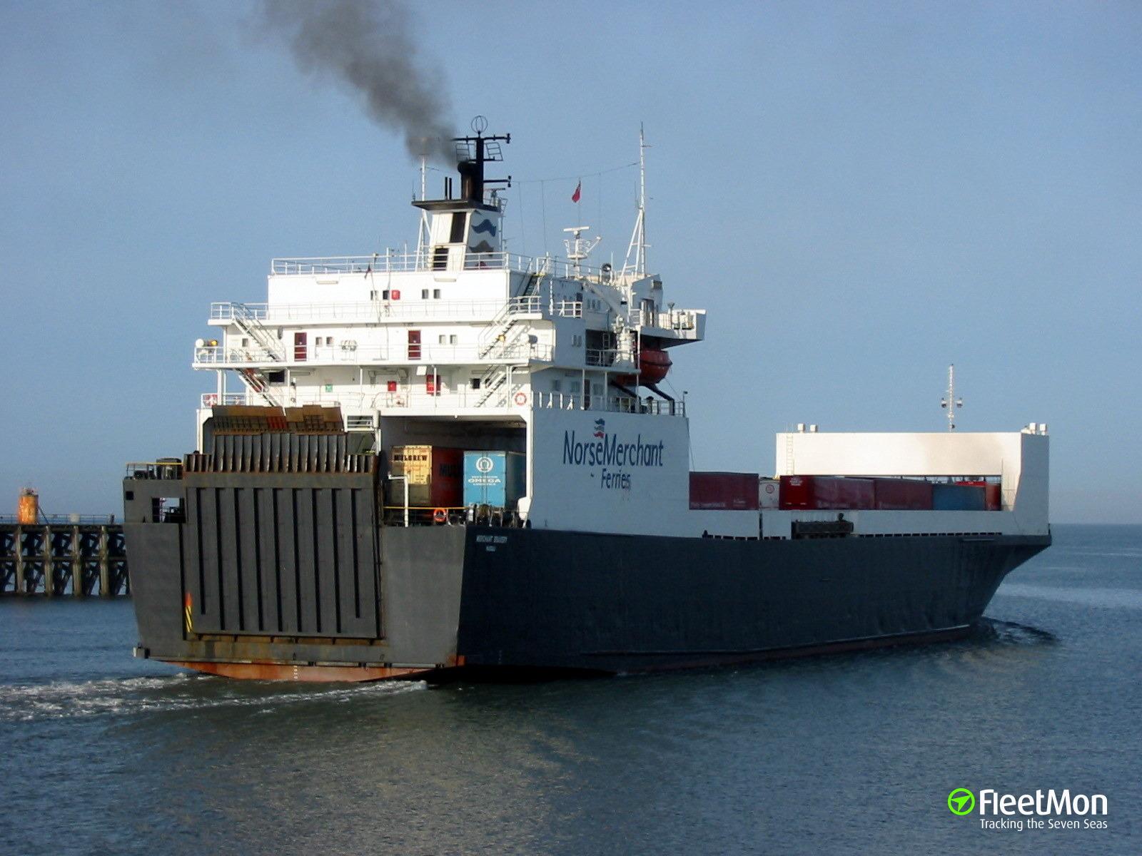 Ferry Ulfat towed to Novorossiysk, Black sea