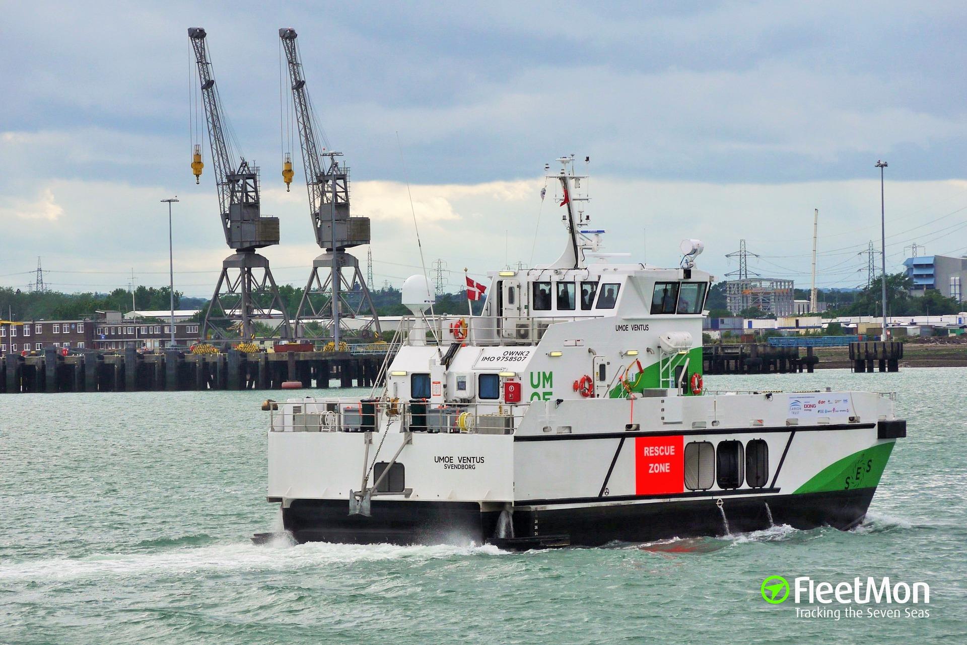 Offshore high speed craft UMOE VENTUS fire