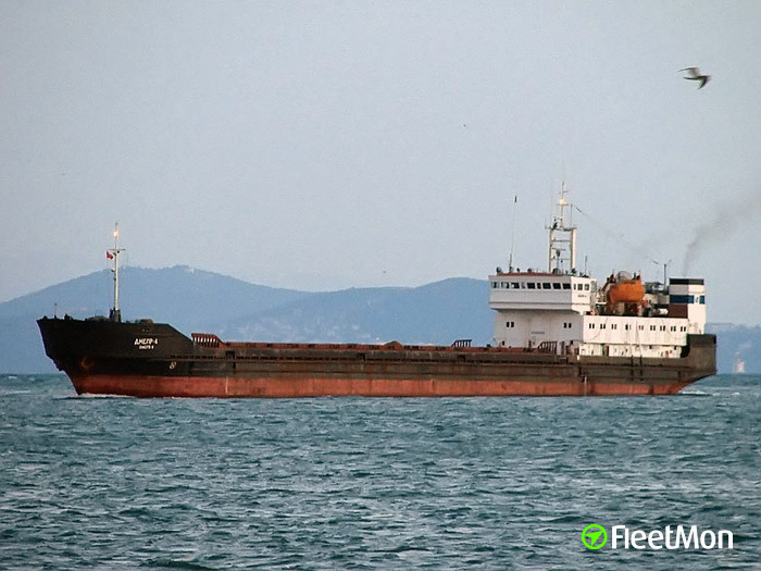 Turkish freighter Dolphin aground on river Don
