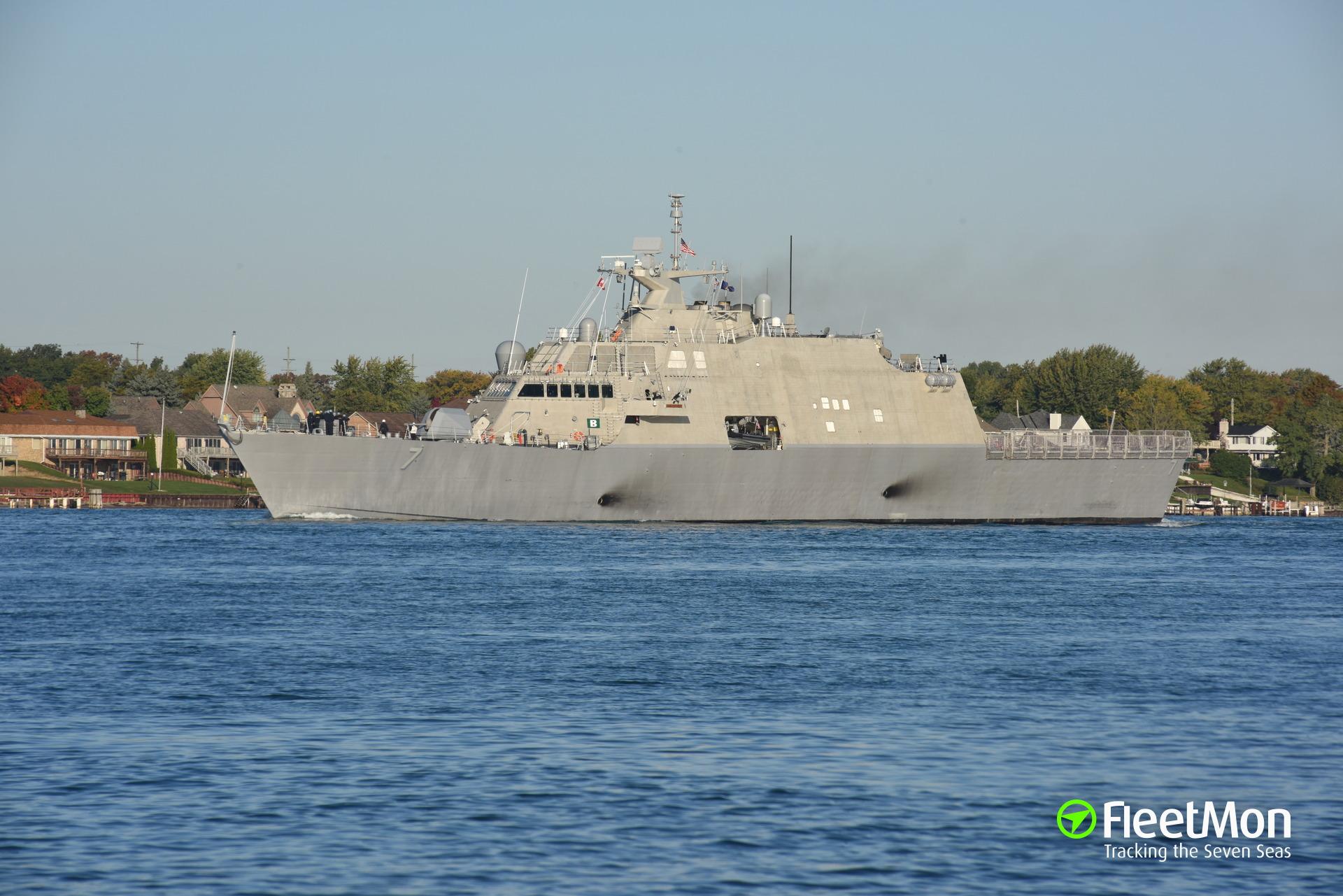 Photo of USS DETROIT LCS7 (MMSI: 369970708, Callsign: None