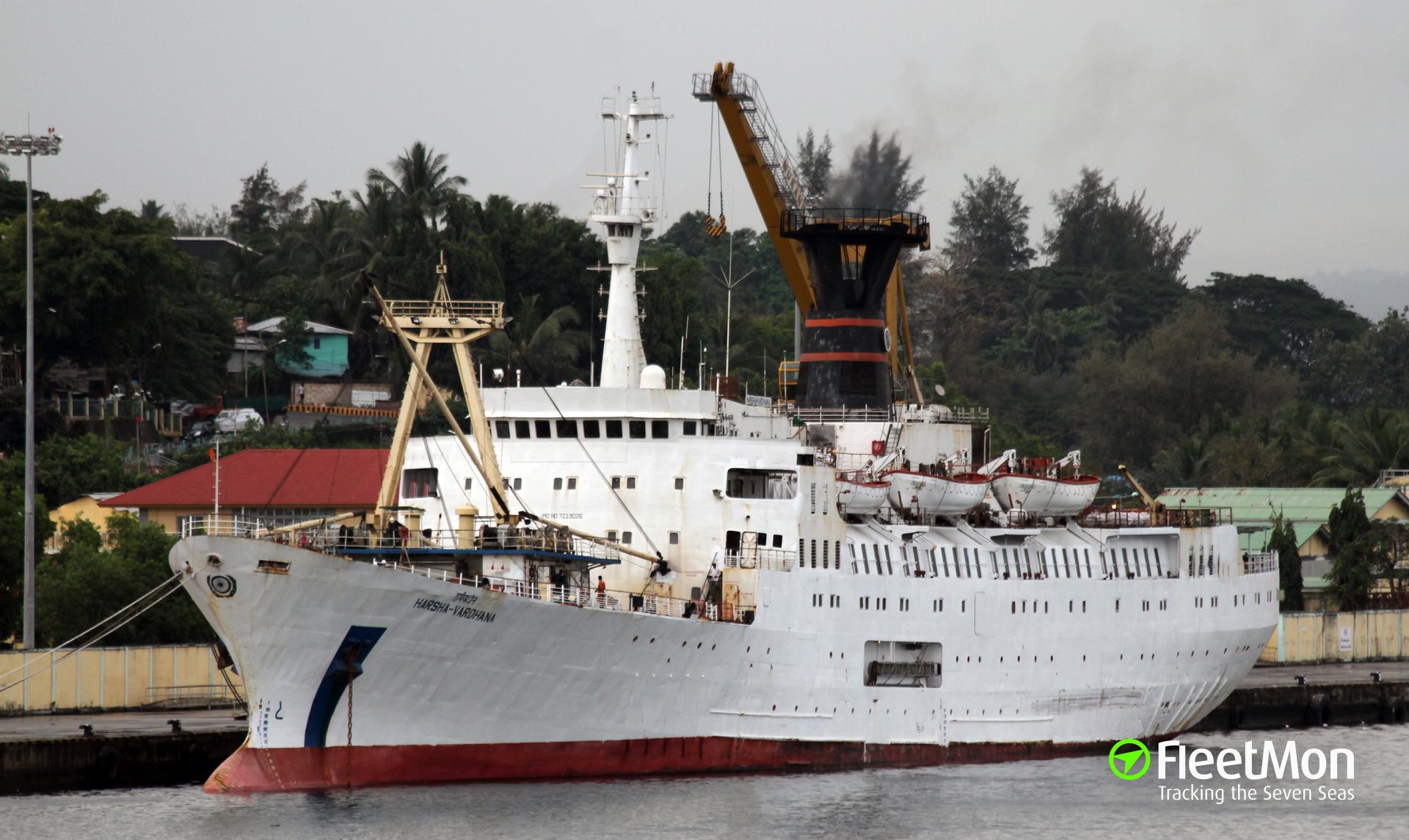 Passenger ship HARSHAVARDHANA with 480 passengers on board disabled, adrift