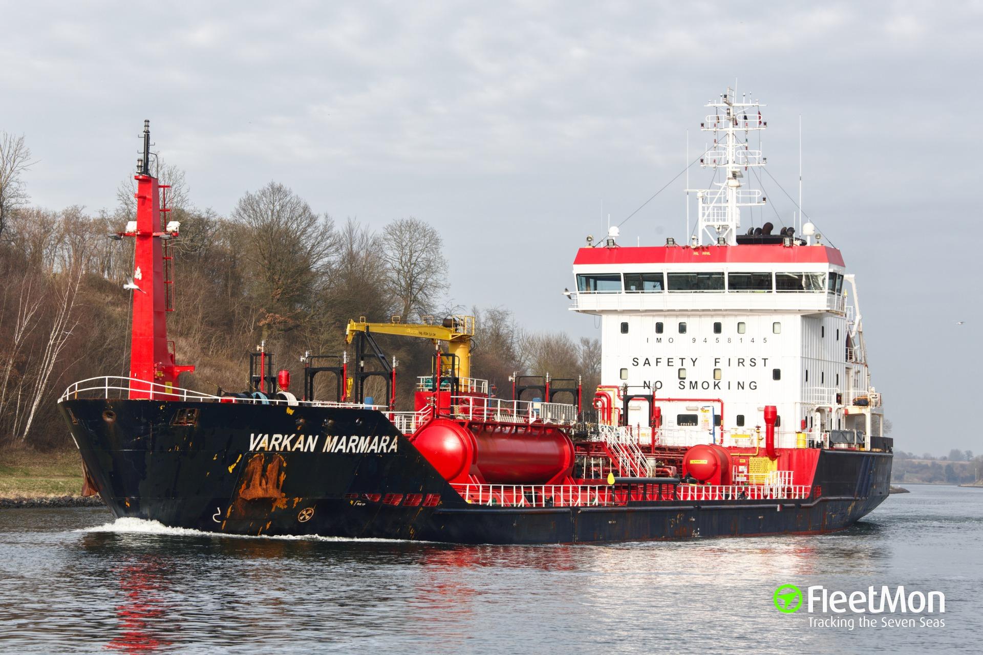 Chemical tanker Varkan Marmara experienced engine problem, Med