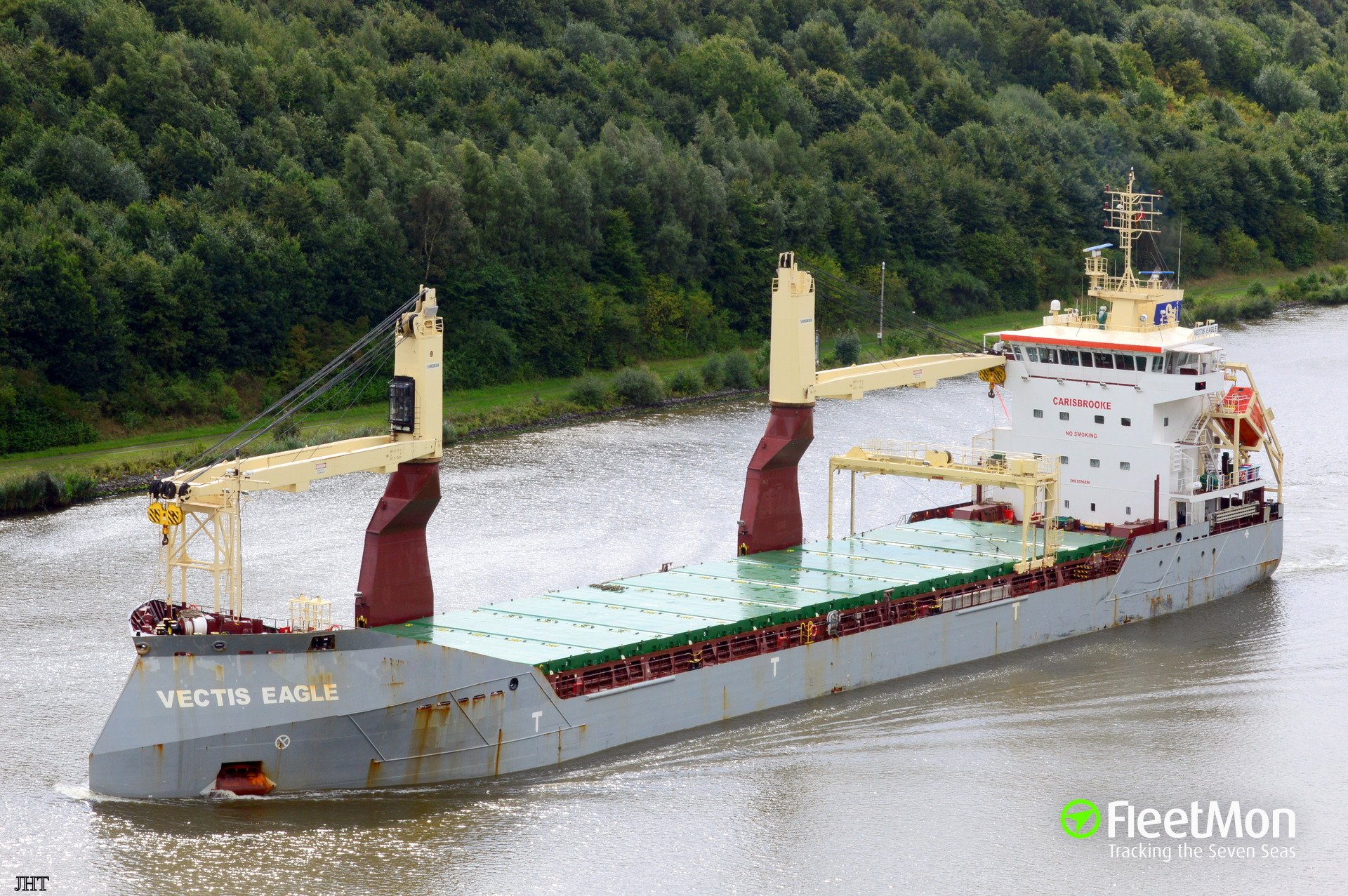 General cargo vessel Vectis Eagle allision in Kiel Canal
