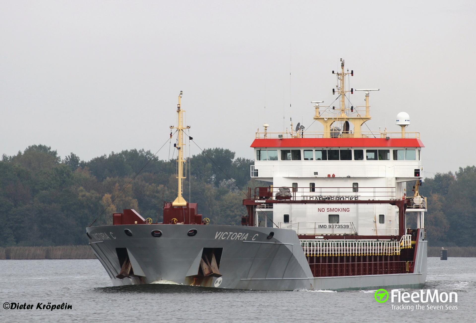 Chief Officer of m/v Victoria C medevaced with wound in abdomen, Kiel Canal
