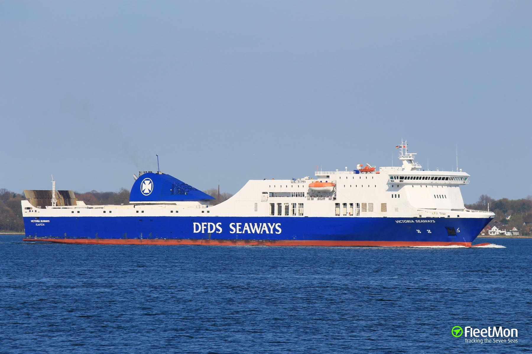 Fire on cargo deck of ferry Victoria Seaways, Baltic