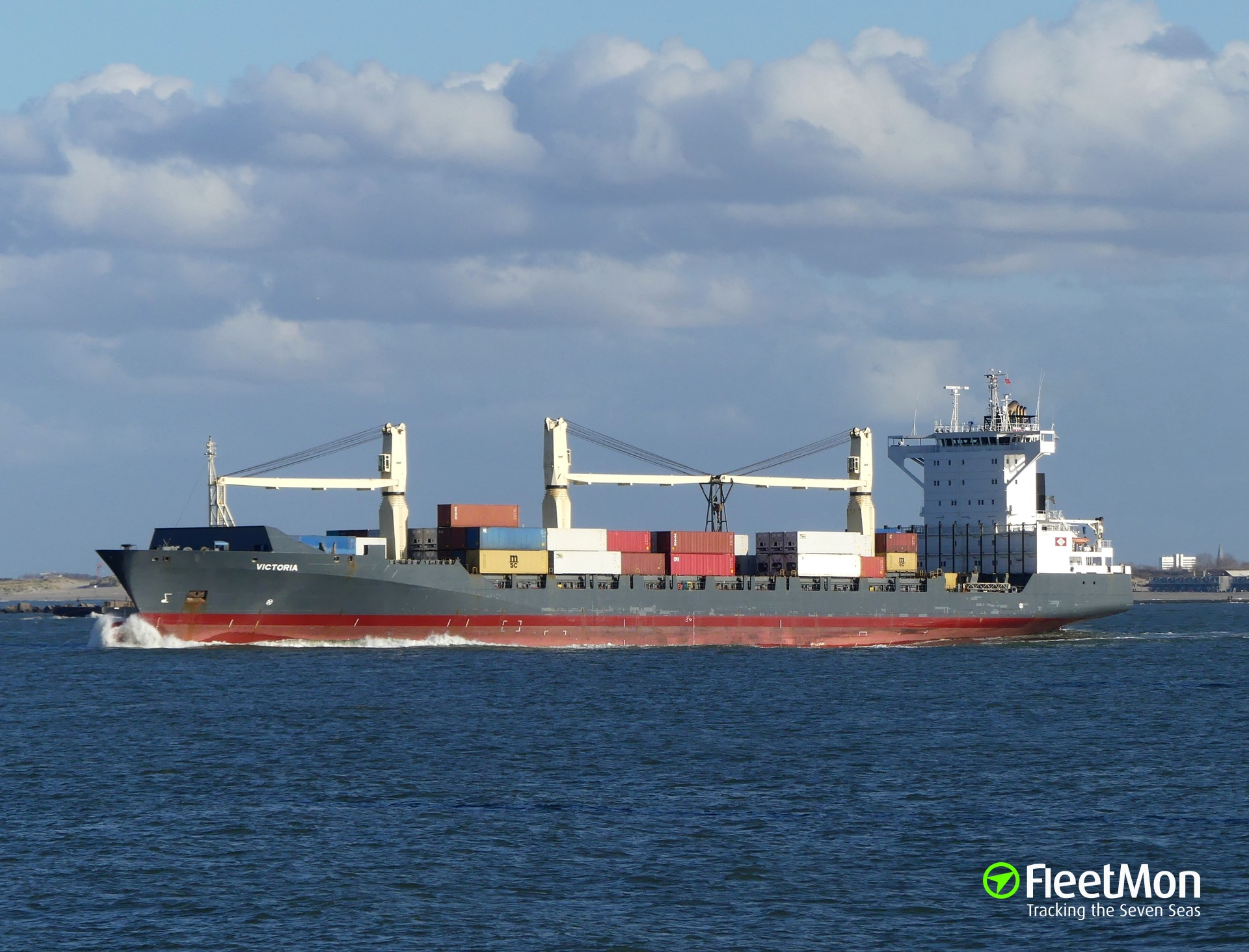 Container ship VICTORIA accident in Denmark waters