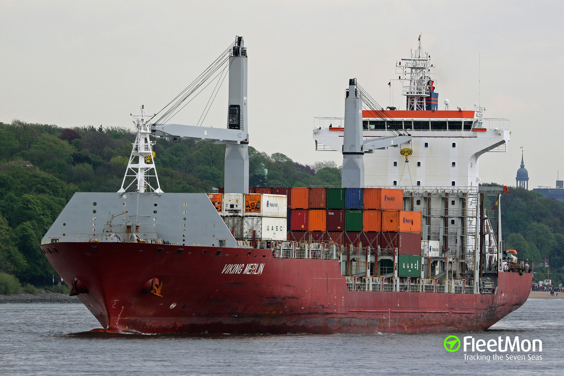 Boxship Viking Merlin suffered fire in engine room, Philadelphia