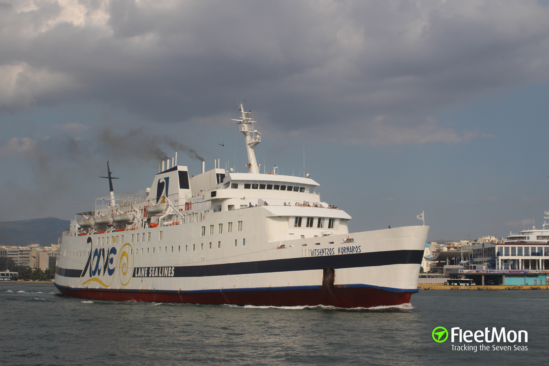 Ferry VITSENTZOS KORNAROS damaged in allision with pier