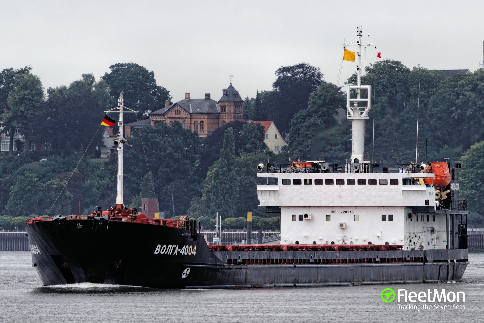 Freighter VOLGA-4004 grounding, Azov sea