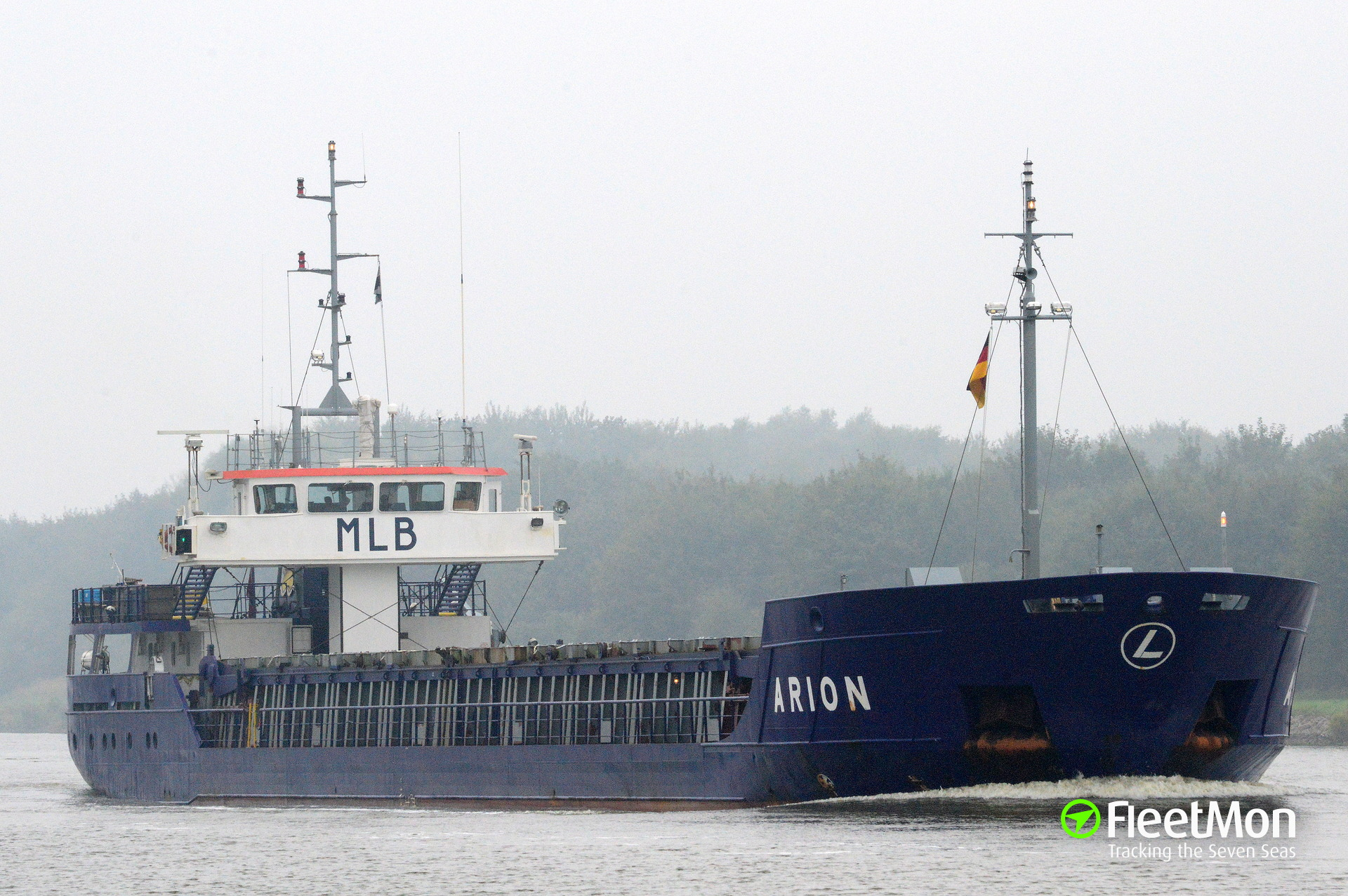 Arion collided with unidentified fishing vessel on Weser