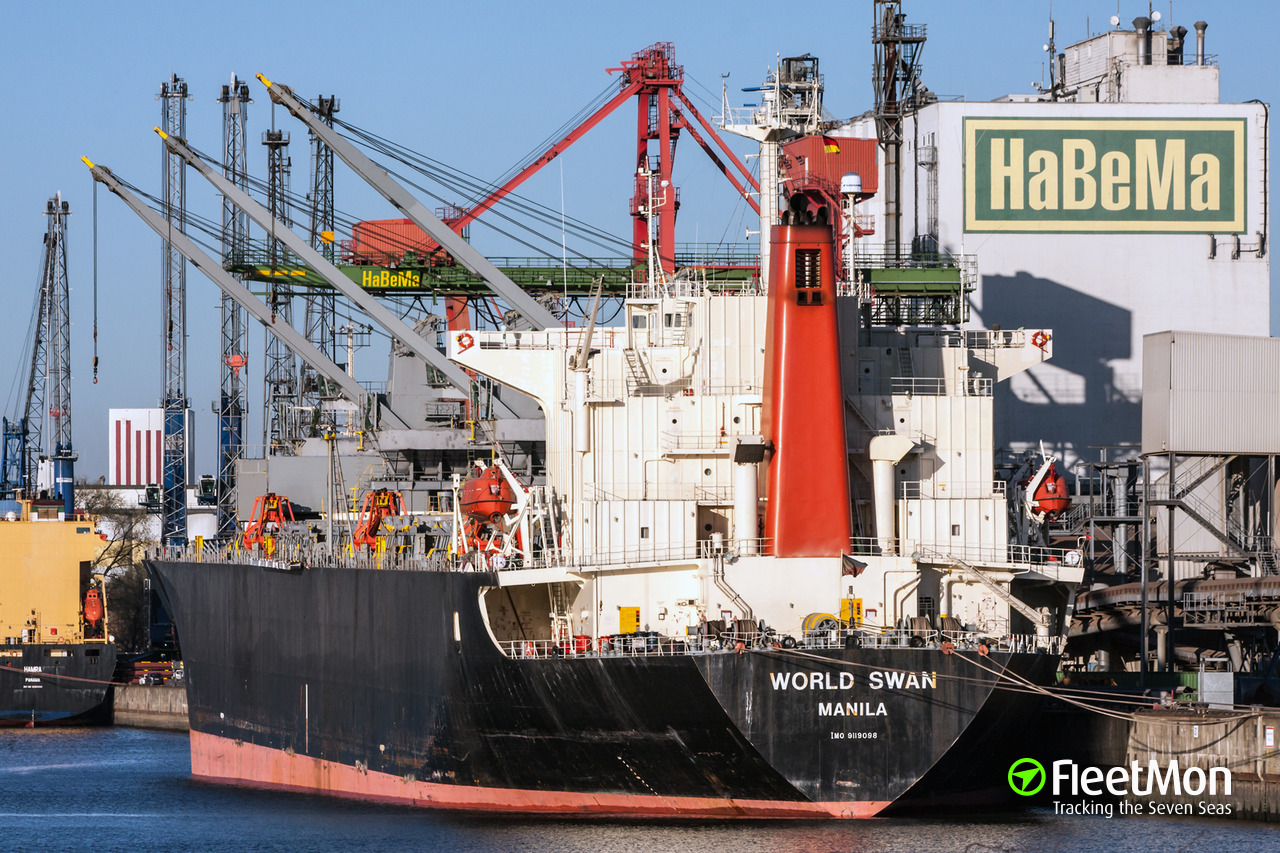 Vessel WORLD SWAN (Forest-product carrier) IMO 9119098, MMSI 548223000