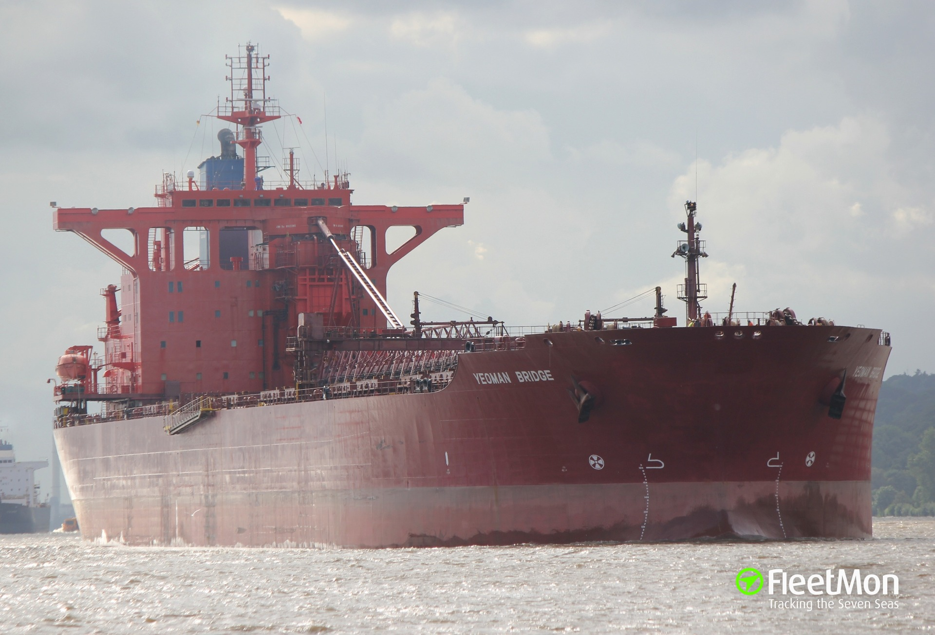 Bulk carrier YEOMAN BRIDGE collided with aframax PEARY SPIRIT