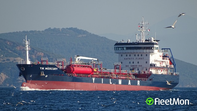 Disabled tanker under tow, Aegean sea