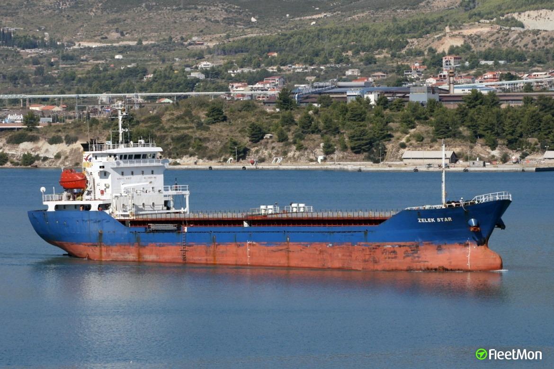 Zelek Star aground off Kherson, Ukraine