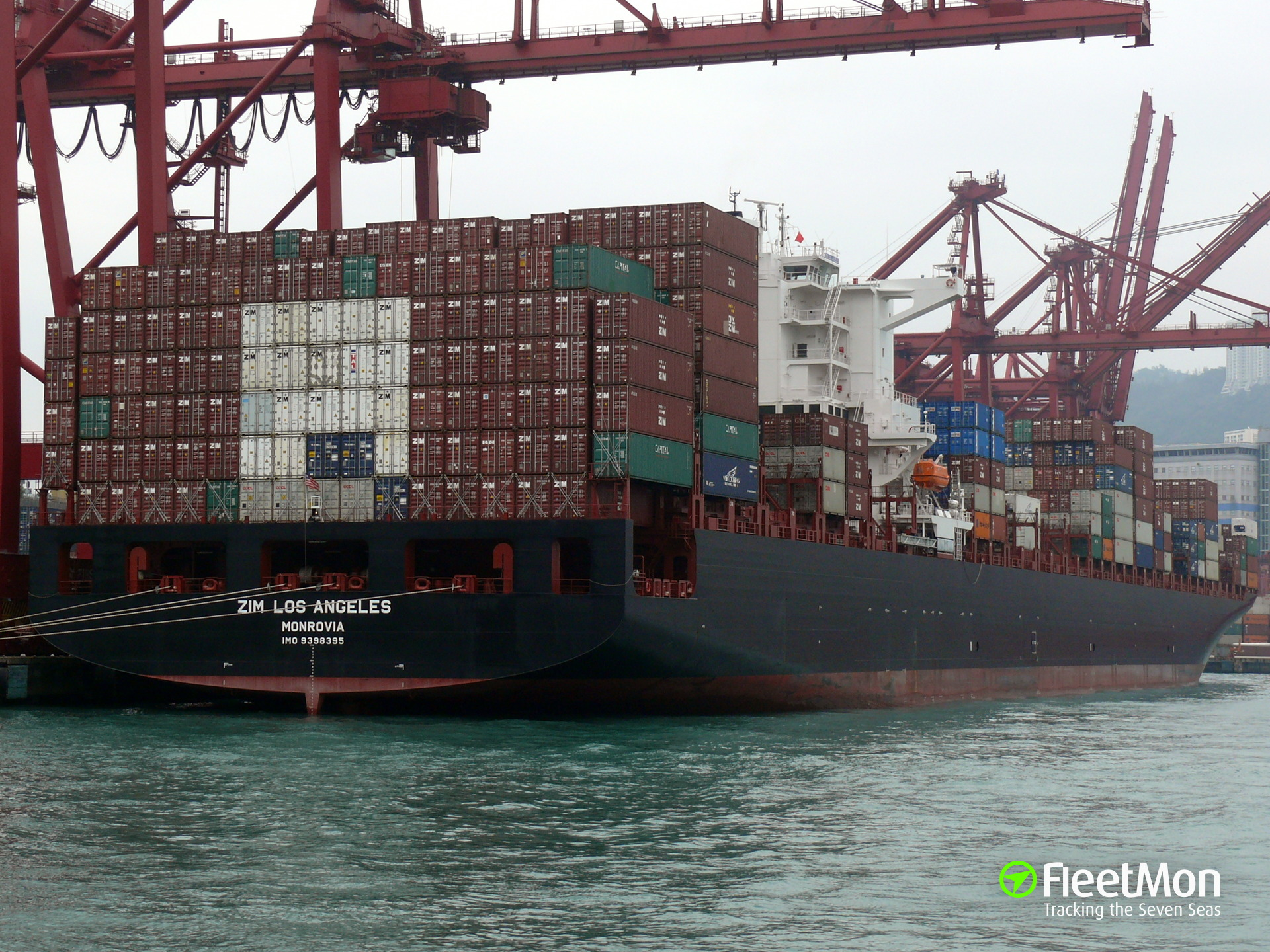 ZIM LOS ANGELES (Container ship) IMO 9398395